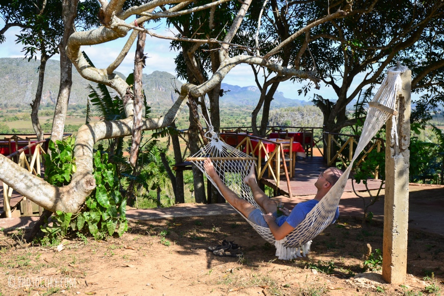 in hammock with view of vinales valley
