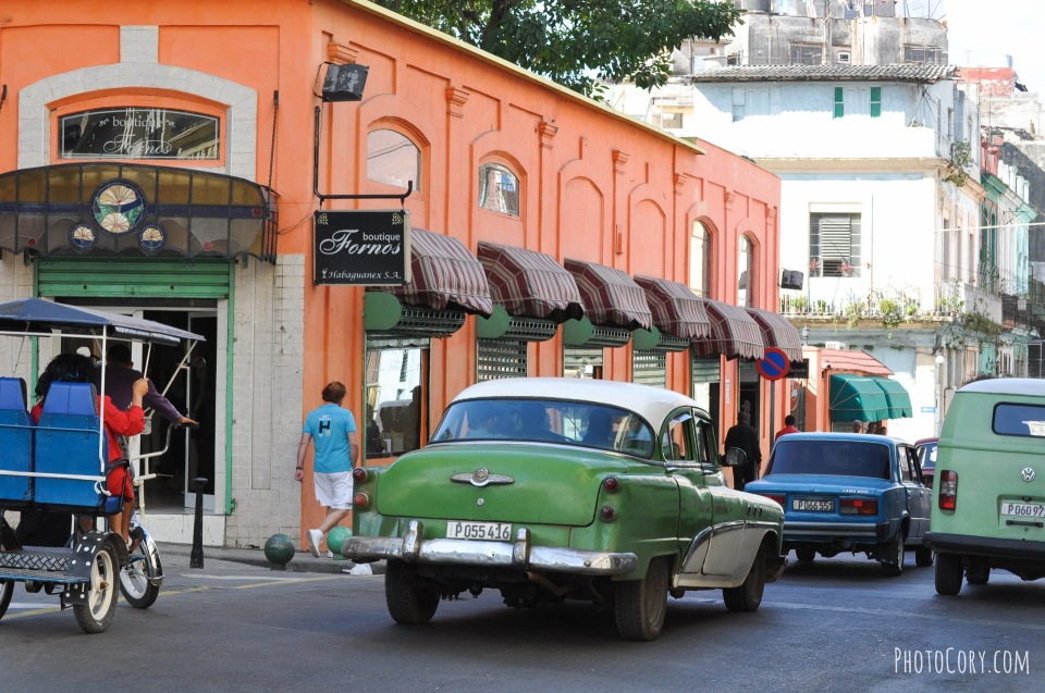 in havana, green car