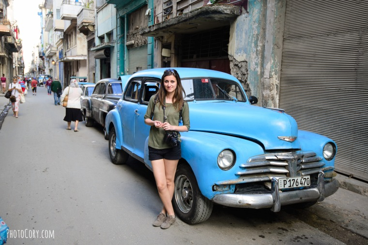 me with an old car in havana