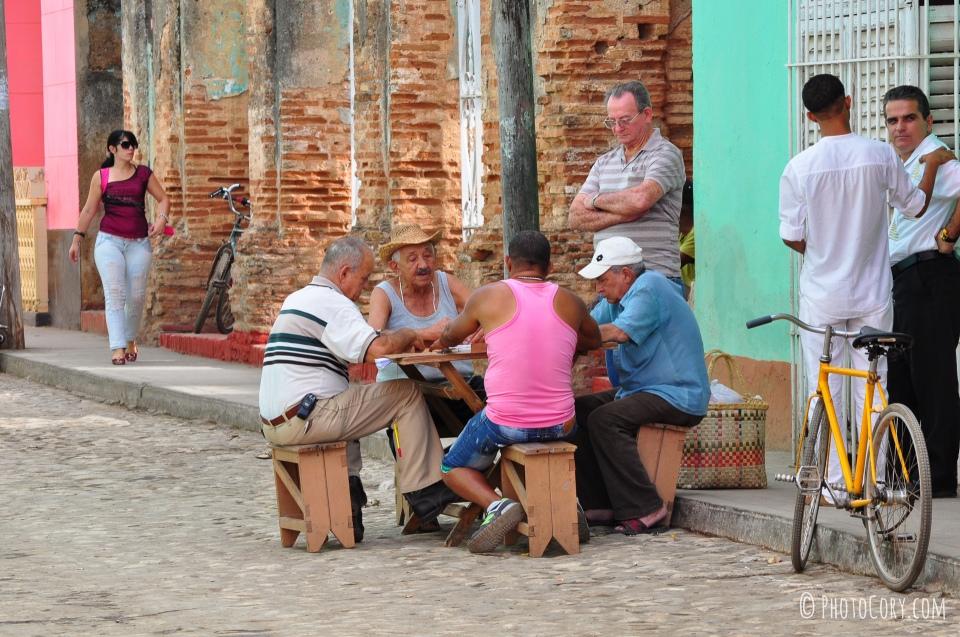 men playing dominoes in cuba