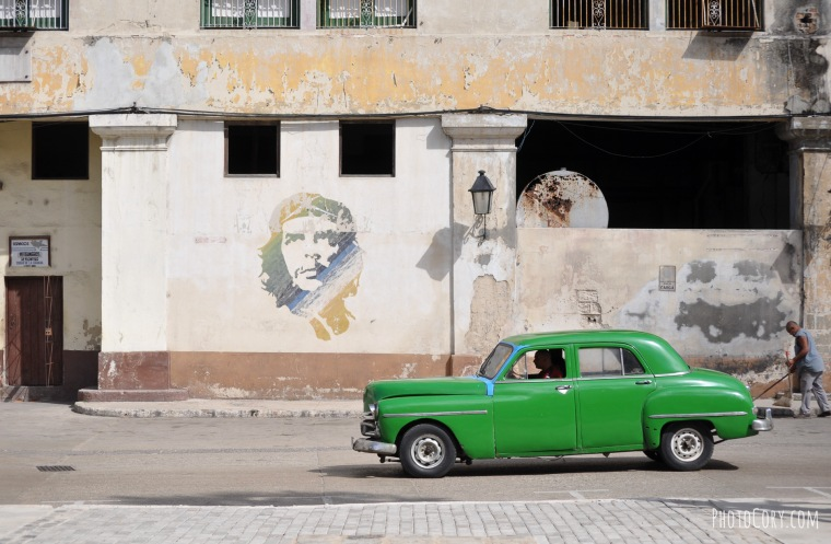 old green car havana