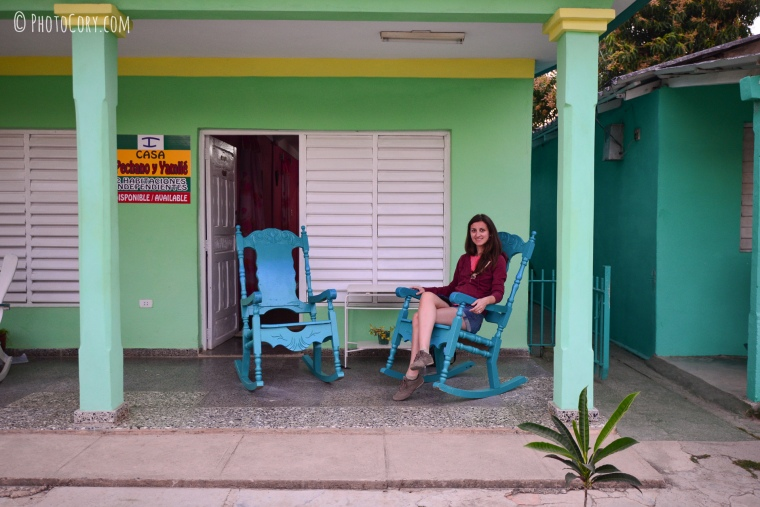 on the porch in vinales