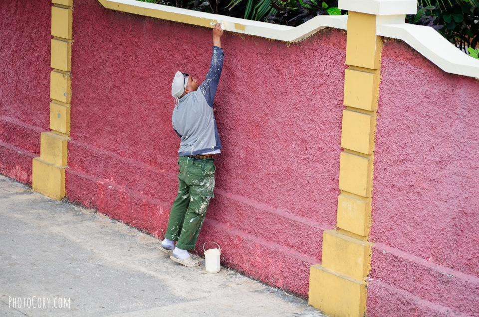 paiting a wall