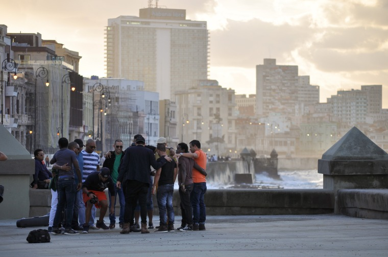 people on malecon havana