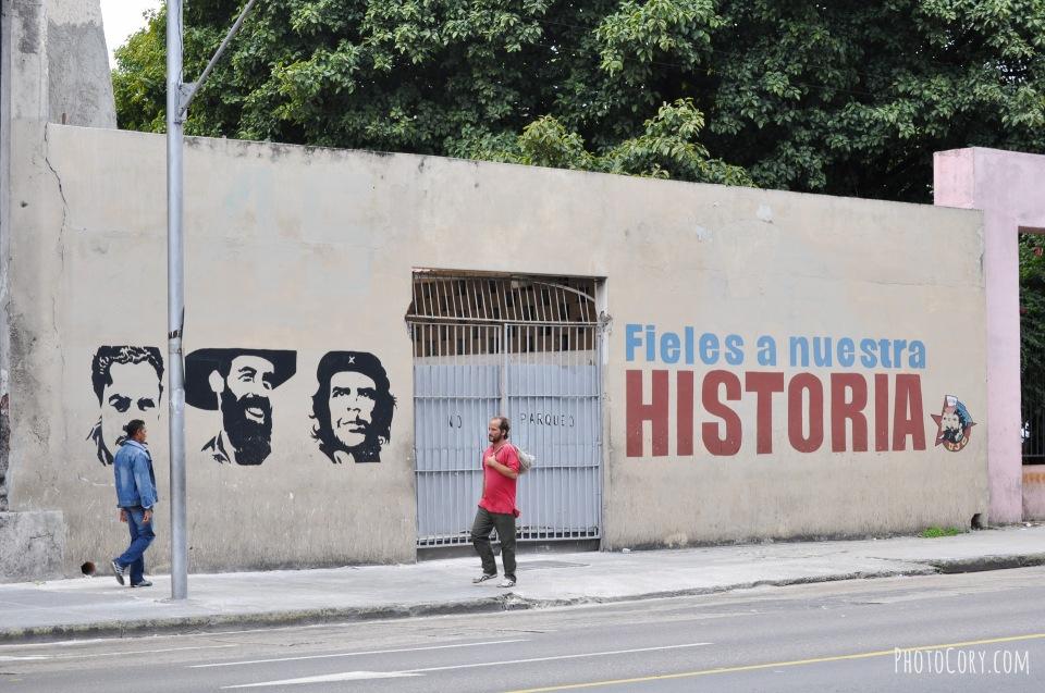 simon bolivar street havana, slogan