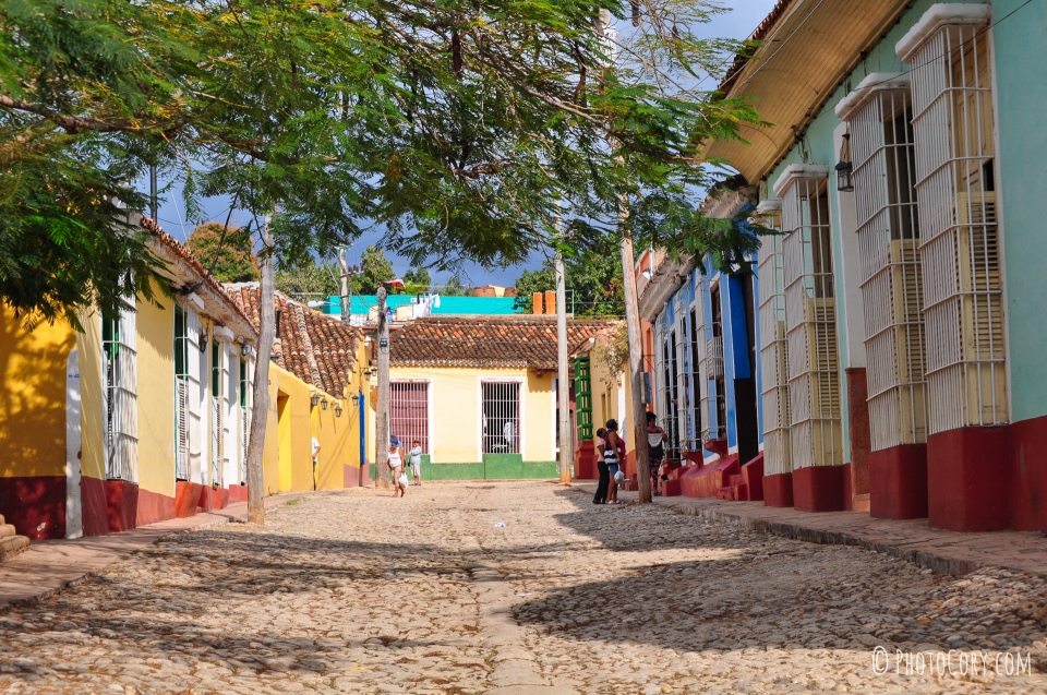 street and houses in cuba trinidad