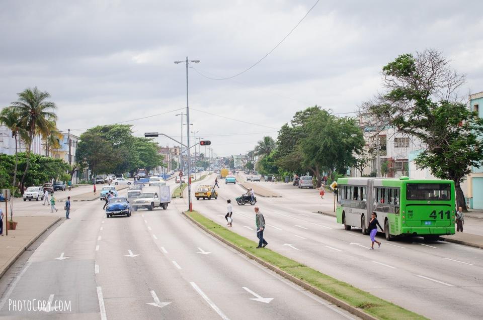 street three lane cuba havana