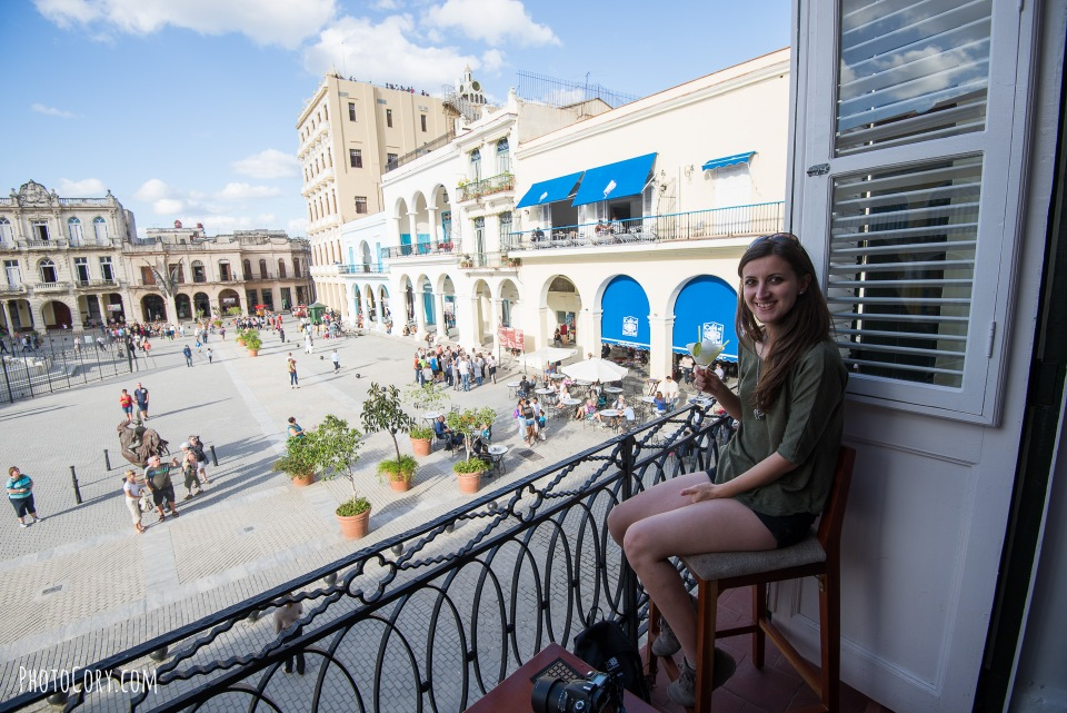 view from balcony plaza vieja havana
