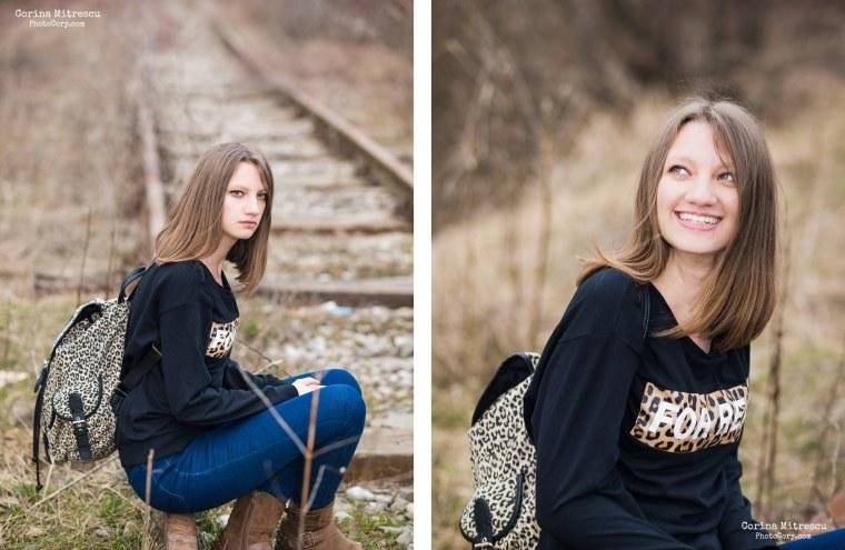 portrait highschool girl