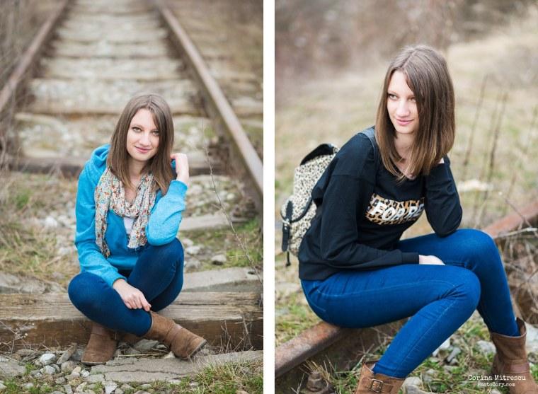 portrait on railway