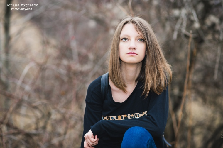 portrait overcast light brown