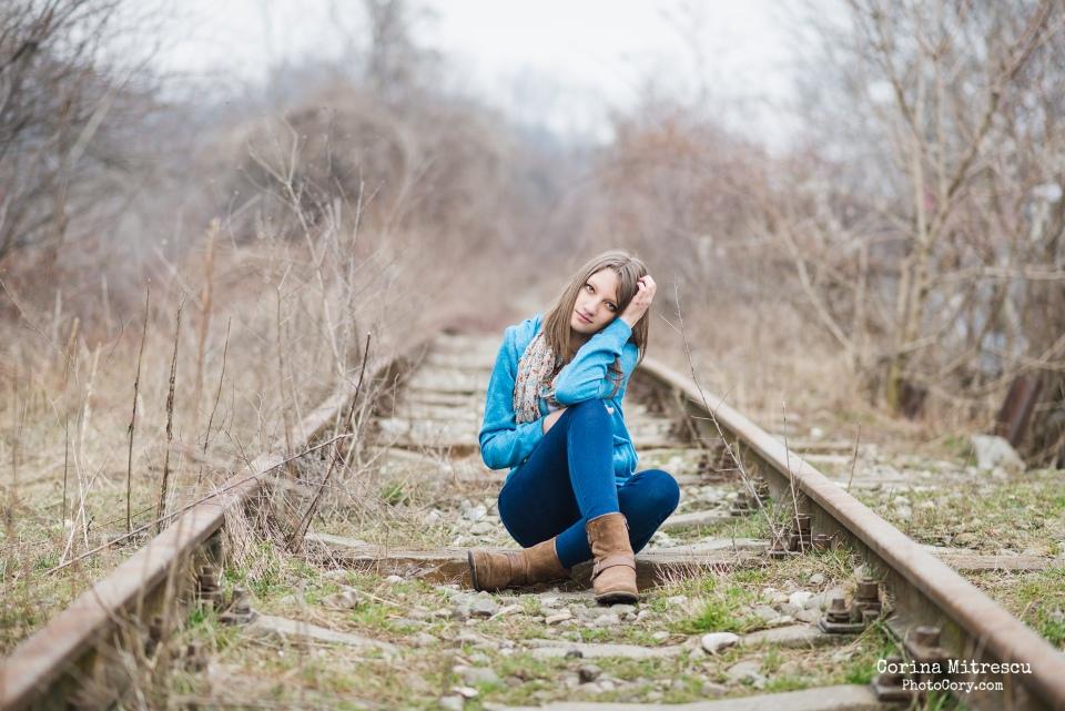 poze pe linia de tren