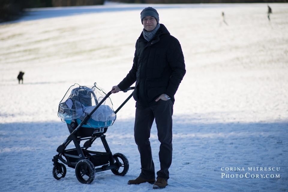 stroller on snow