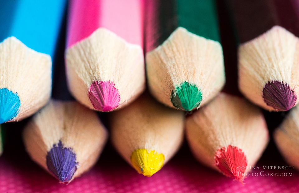pencils colored macro